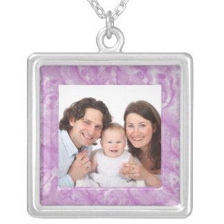Marble Square Pendant Necklace
