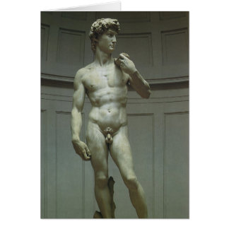 Marble Statue of David by Michelangelo Greeting Card