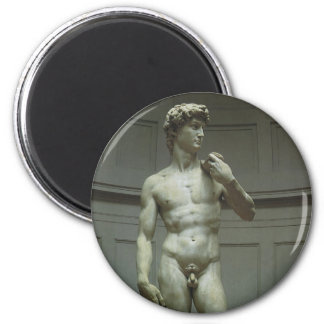 Marble Statue of David by Michelangelo 2 Inch Round Magnet