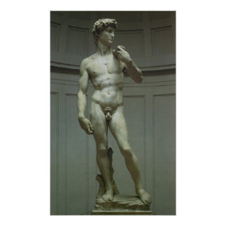 Marble Statue of David by Michelangelo Poster