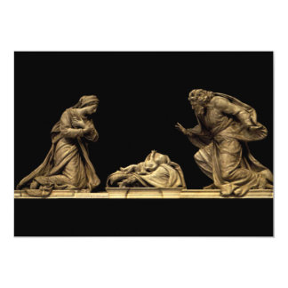 Marble Statue of the Nativity by Michel Anguier 5x7 Paper Invitation Card