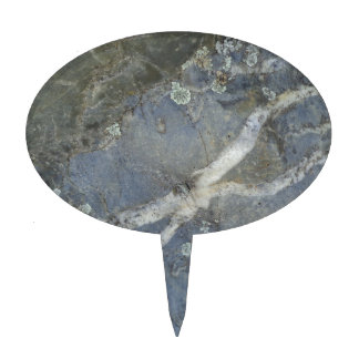 Marble Stone Grey Cake Topper