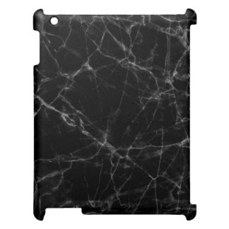 Marble Stone In Black iPad Covers