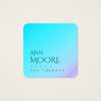 Marble stone light green blue square business card