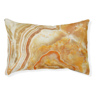 Marble Stone Look In Beige And Light Brown Dog Bed