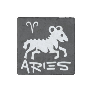 Marble Stone Zodiac Magnet, Aries Stone Magnet