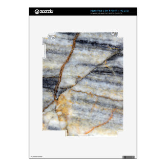 Marble surface with fractures. iPad 3 skin