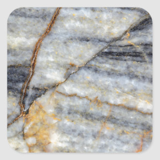 Marble surface with fractures. square sticker
