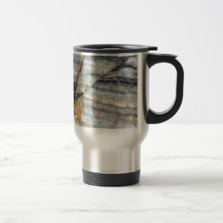 Marble surface with fractures. travel mug