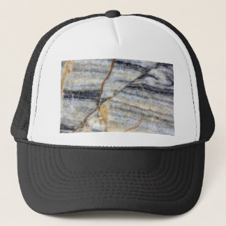 Marble surface with fractures. trucker hat