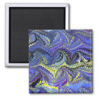 Marble T-Design Blue Magnet