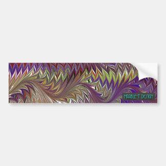 Marble T Design Purple Bumper Sticker