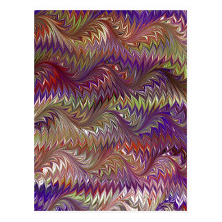 Marble T Design Purple Postcard