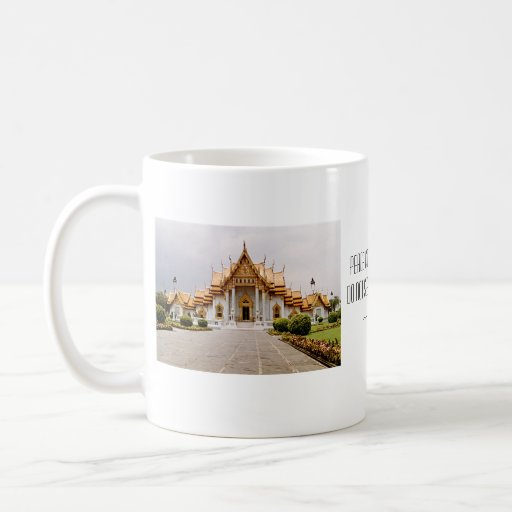 Marble Temple of Gold over Khmer Lion Peace Cup Coffee Mugs