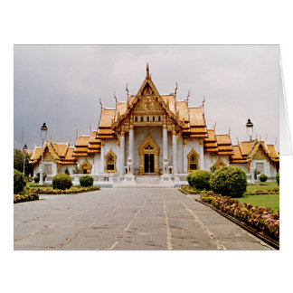 Marble Temple of Gold w/ Buddha Quote Greeting Card