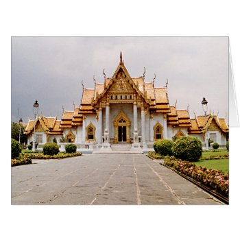 Marble Temple Of Gold W/ Buddha Quote Card by DigitalDreambuilder at Zazzle