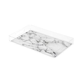 Marble texture acrylic tray
