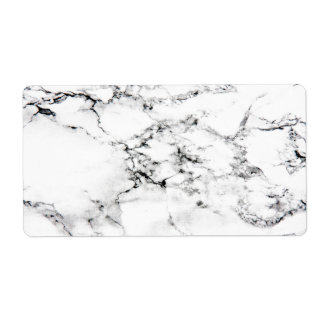 Marble texture custom shipping labels