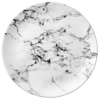 Marble texture dinner plate