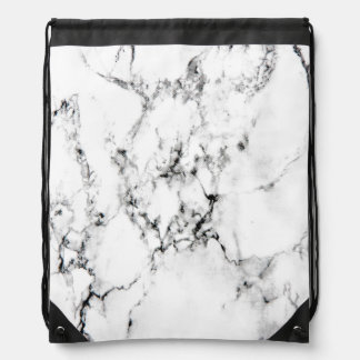 Marble texture drawstring backpack