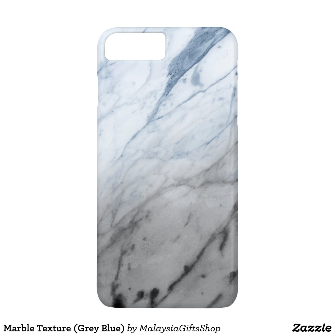 Marble Texture (Grey Blue) iPhone 7 Plus Case