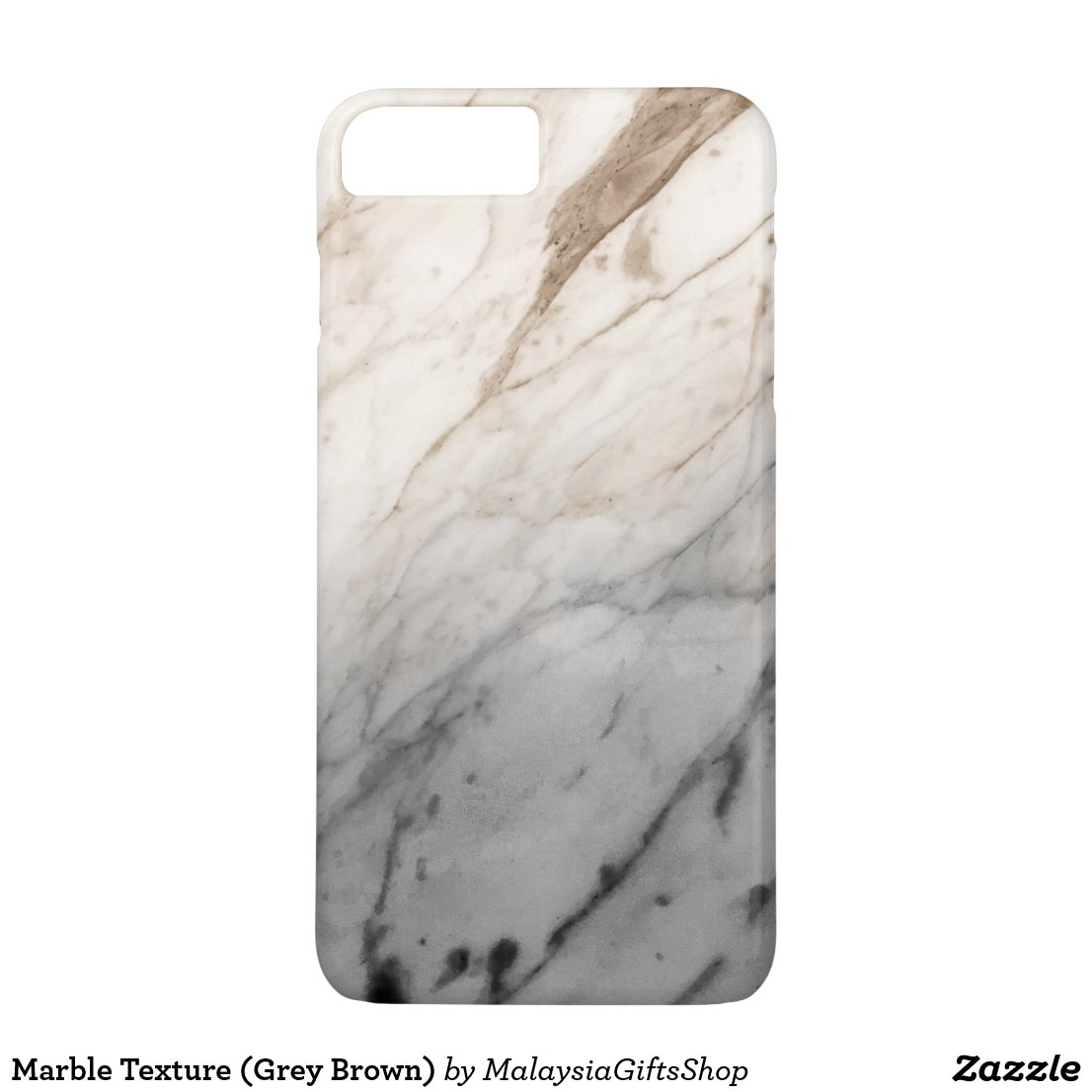 Marble Texture (Grey Brown) iPhone 7 Plus Case