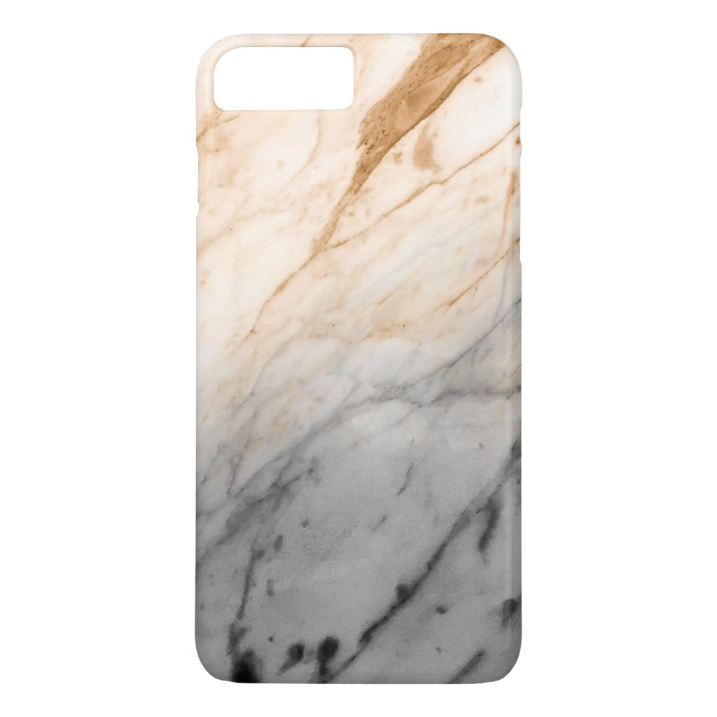 Marble Texture (Grey Orange) iPhone 7 Plus Case