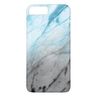Marble Texture (Grey Soft Blue) iPhone 7 Plus Case