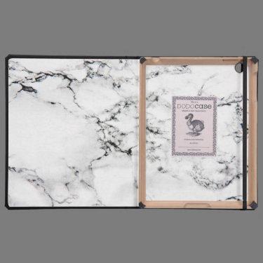 Marble texture iPad folio cases