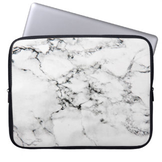 Marble texture laptop sleeve