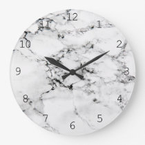Marble texture large clock