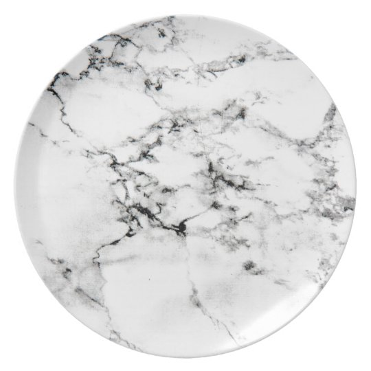 Marble texture melamine plate