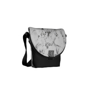 Marble texture courier bag