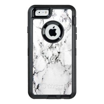 Marble Texture Otterbox Defender Iphone Case by hildurbjorg at Zazzle