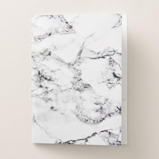 Marble Texture Pocket Folder Zazzle Com