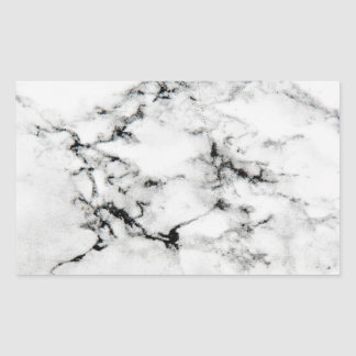 Marble texture rectangular sticker
