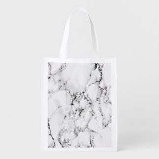 Marble texture reusable grocery bag
