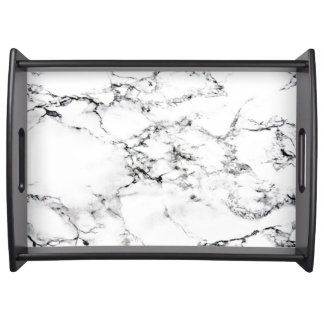 Marble texture serving tray