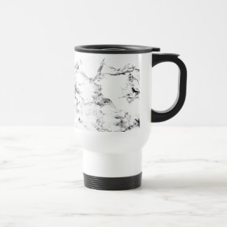 Marble texture travel mug