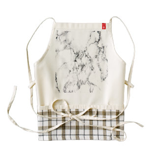 Marble texture zazzle HEART apron