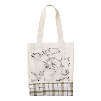 Marble texture zazzle HEART tote bag