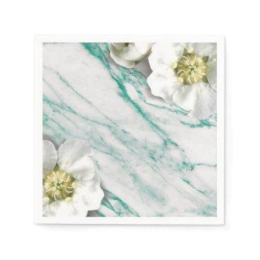 McTiffany Tiffany Aqua Marble Tiffany Emerald White Jasmine Glitter Paper Napkin
