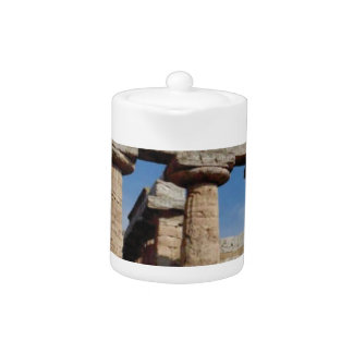 marble towers of ancient Greece Teapot