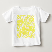 Marble trendy pattern, abstract yellow and white. baby T-Shirt
