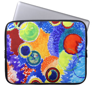 Marble Watercolor Abstract Laptop Computer Sleeve