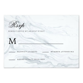 Marble Wedding RSVP Response Card