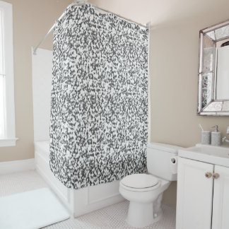Marble White And Black Shower Curtain