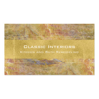 Marble with Gold Modern Natural Stone Business Card