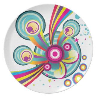 Marble World Melamine Plate
