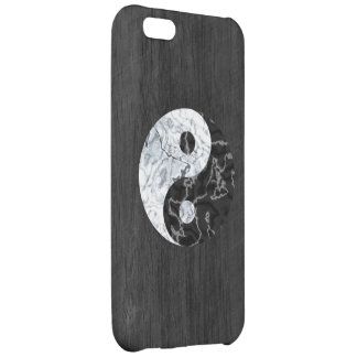 Marble Yin Yang Symbol Case For iPhone 5C
